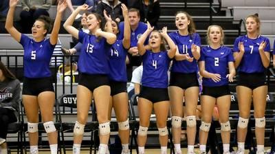PHOTOS: Byron Nelson volleyball takes out Denton Guyer in straight sets
