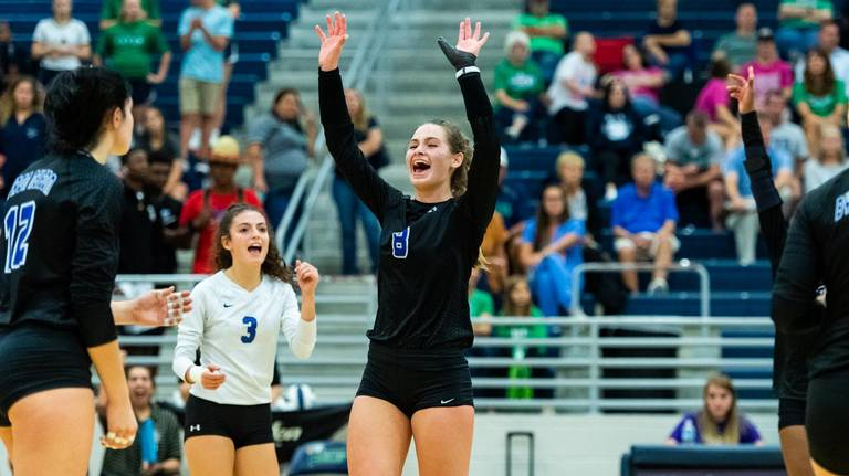 PHOTOS: Byron Nelson volleyball earns District 5-6A victory over Eaton